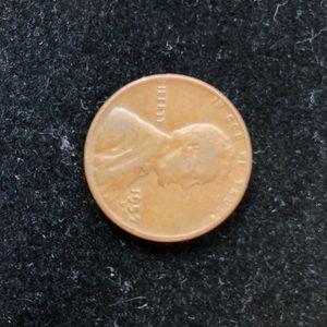 1957 D wheat pennie